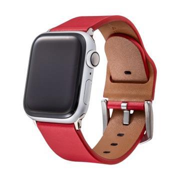 Gramas Apple Watch 44/42mm真皮錶帶-紅