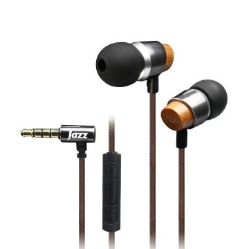 INTOPIC 入耳式木質耳機麥克風-鐵灰