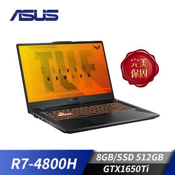 ASUS華碩 TUF Gaming A17筆記型電腦(Ryzen7-4800H/8GB/GTX1650Ti/512GB)