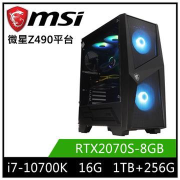 微星平台[聖光騎士]i7八核獨顯SSD電腦