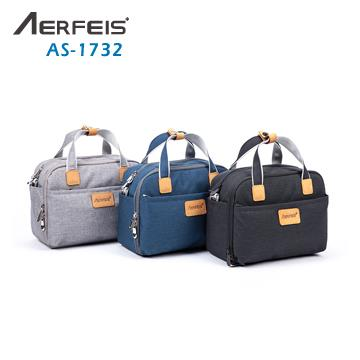 AERFEIS 帆布手提側背相機包 AS-1732 黑
