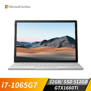 Microsoft微軟 Surface Book3 筆記型電腦(i7-1065G7/GTX1660Ti/32GB/512GB)