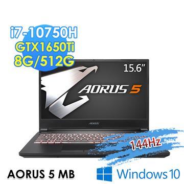 技嘉GIGABYTE AORUS 5 電競筆電(i7-10750H/8G/512G/GTX1650Ti-4G/Win10)