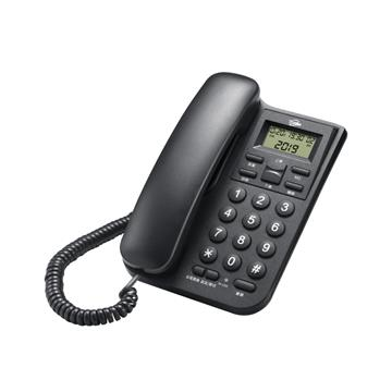 T.C.STAR 來電顯示有線電話 黑