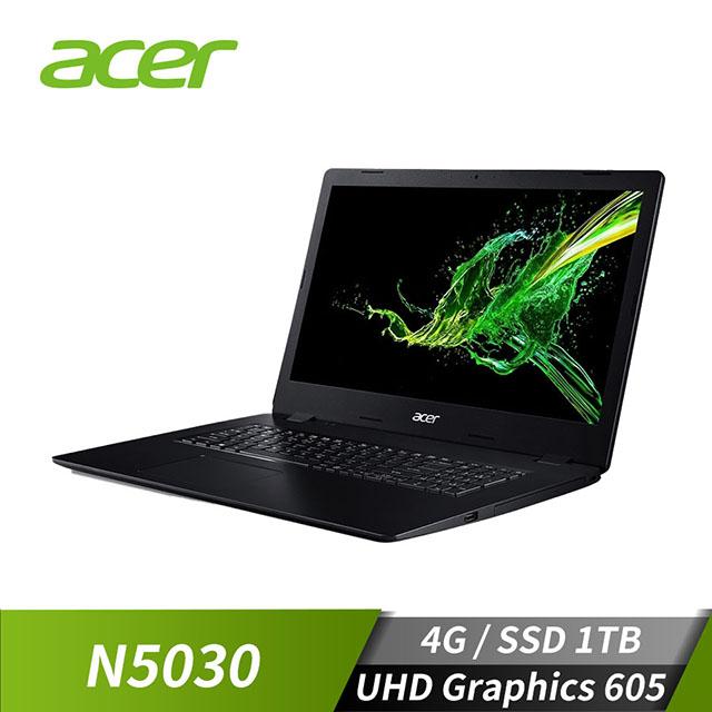 宏碁ACER A317-32 17.3吋筆記型電腦 黑(W10/N5030/17H/4GD4/1TB)