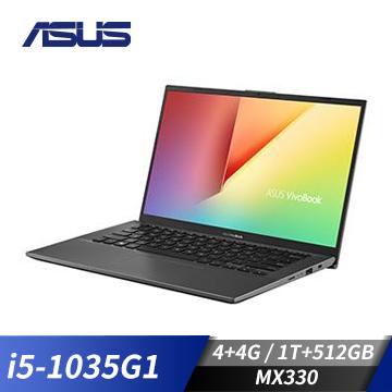 【改裝機】華碩ASUS X512JP 筆記型電腦 灰(W10/i5-1035G1/15F/4GD4/MX330/512SSDP)