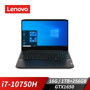 Lenovo聯想 IdeaPad Gaming 3i 筆記型電腦(i7-10750H/GTX1650/16G/1T+256S)