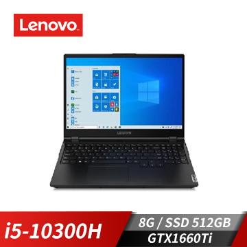 Lenovo聯想 Legion 5Pi 筆記型電腦(i5-10300H/GTX1660Ti/8G/512G)