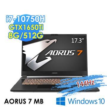 技嘉GIGABYTE AORUS 7 電競筆電 (i7-10750H/8G/512G/GTX1650Ti-4G/Win10)