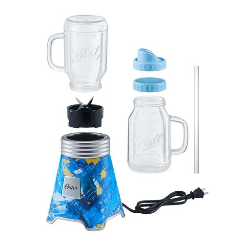 OSTER BALL 經典隨鮮瓶果汁機-彩繪藍 BLSTMM-BA4