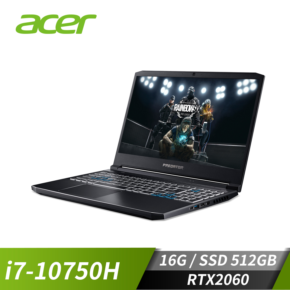 ACER宏碁 Predator 電競筆電(i7-10750H/RTX2060/16GB/512GB)