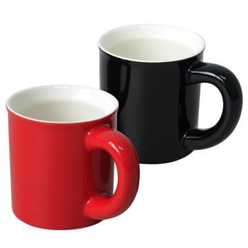 經典馬克杯二入組(紅+黑)