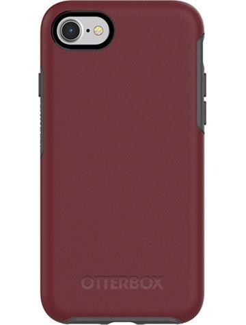 OtterBox iPhone SE 炫彩幾何保護殼-暗紅