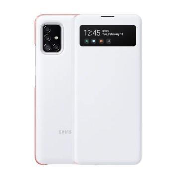 SAMSUNG Galaxy A51 5G原廠透視感應皮套-白 EF-EA516PWEGWW