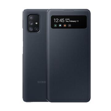 SAMSUNG Galaxy A71 5G原廠透視感應皮套-黑 EF-EA716PBEGWW