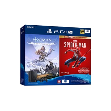 PS4 Pro 地平線+蜘蛛人 同捆組(內含雙控制器)