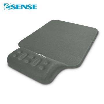 Esense逸盛 P360舒壓護腕+鼠墊 灰 05-EWP360SL