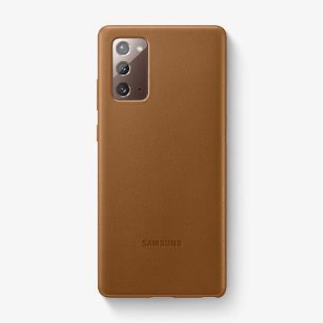 三星SAMSUNG Galaxy Note20 原廠皮革背蓋 棕