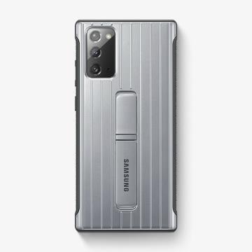 三星SAMSUNG Note20 原廠立架式保護皮套 銀