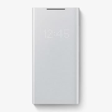 三星SAMSUNG Note20 U 原廠LED皮革翻頁皮套 灰