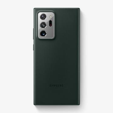 三星SAMSUNG Note20 Ultra 原廠皮革背蓋 綠