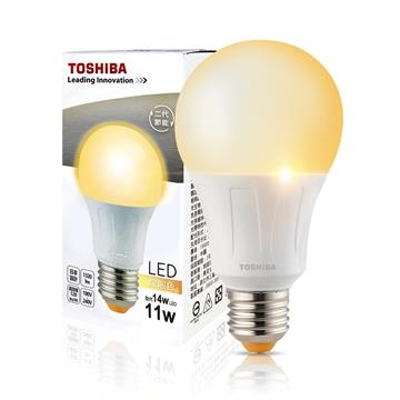 東芝TOSHIBA 11W LED燈泡-黃光