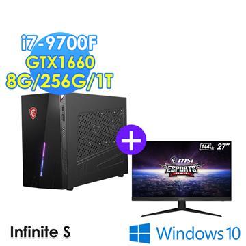 msi微星Infinite S 9SI 215TW 桌機螢幕組合(i7-9700F/8G/256G+1T/GTX1660S/W10/G271螢幕)