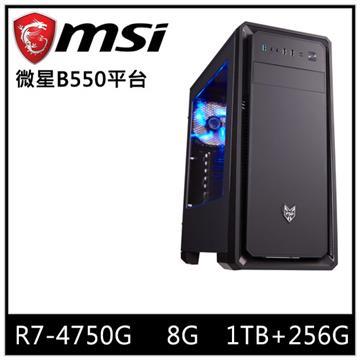 微星平台[雷光壯士]R7八核效能SSD電腦