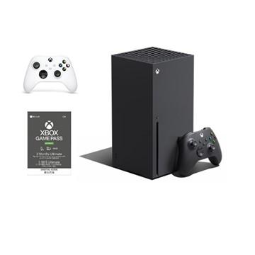 (組合)Xbox Series X主機+無線控制器 冰雪白+Game Pass Ultimate 3個月 實體卡X1