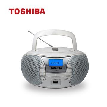 TOSHIBA USB/CD手提收音機 白