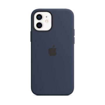 iPhone 12 mini MagSafe 矽膠殼-海軍深藍色