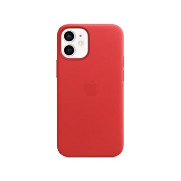 iPhone 12 mini MagSafe 皮革保護殼-紅色