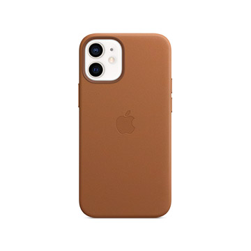 iPhone 12 mini MagSafe 皮革殼-馬鞍棕色