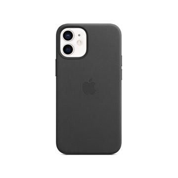 iPhone 12 mini MagSafe 皮革保護殼-黑色