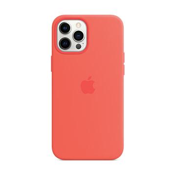 iPhone 12 Pro Max MagSafe 矽膠殼-粉橘色