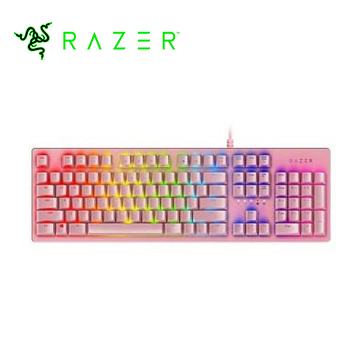 Razer雷蛇 Huntsman Opto Quartz粉晶版鍵盤