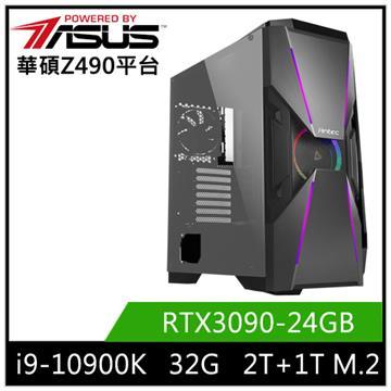 華碩平台[雄風大帝]i9十核獨顯水冷電腦