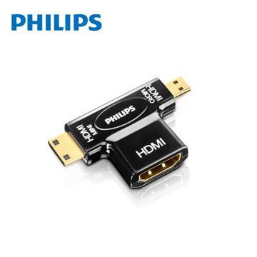 飛利浦Philips HDMI雙用轉接器(HDMI轉Micro/Mini)