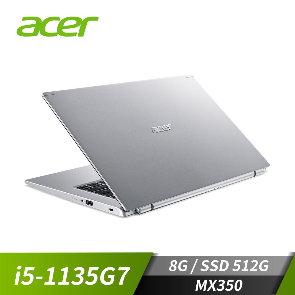 宏碁ACER Aspire 5 筆記型電腦 銀(i5-1135G7/512G/MX350/W10)