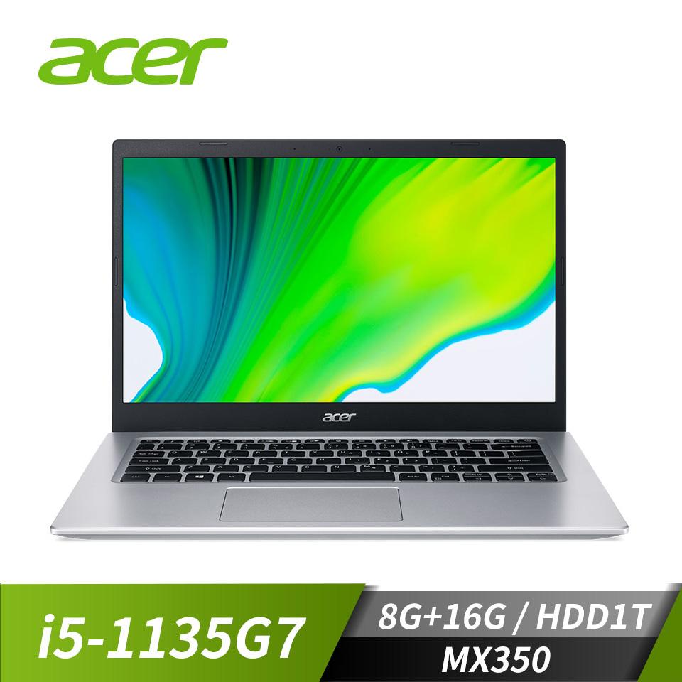 宏碁ACER Aspire 5 筆記型電腦(i5-1135G7/8G+16G/1T/MX350/W10)