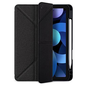 JTLEGEND iPad Air 10.9吋折疊布紋皮套-黑
