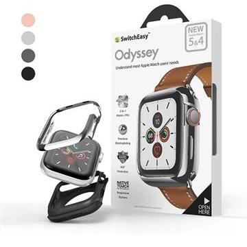 SwitchEasy鋁合金Apple Watch保護殼40mm-銀