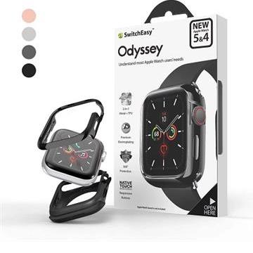 SwitchEasy鋁合金Apple Watch保護殼44mm-灰