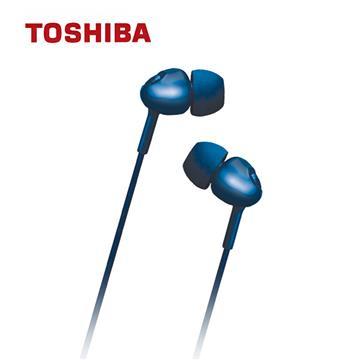 TOSHIBA東芝 金屬低音強化耳機-藍
