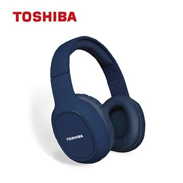 TOSHIBA東芝 頭戴式藍牙耳機-藍