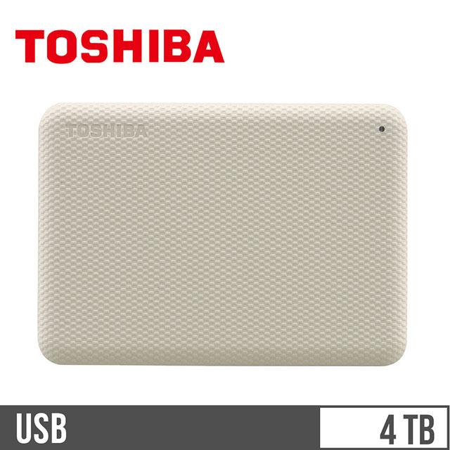 東芝TOSHIBA V10 2.5吋 4TB行動硬碟 白
