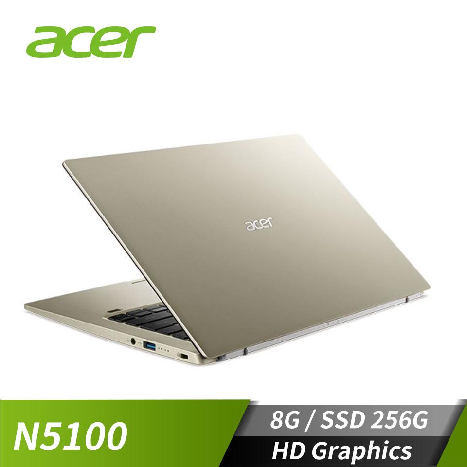 宏碁ACER Swift 1 筆記型電腦 金(N5100/8G/256G/W10)