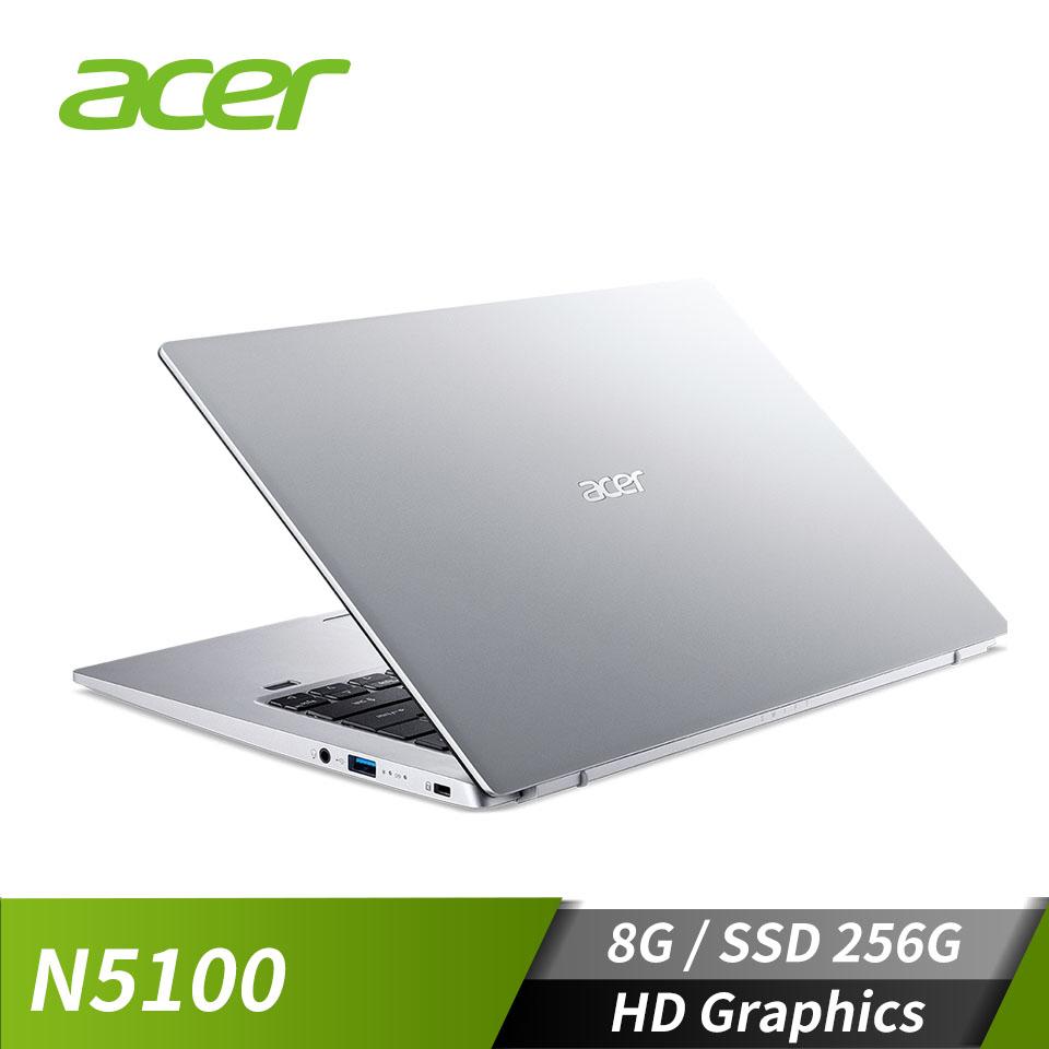 宏碁ACER Swift 1 筆記型電腦 銀(N5100/8G/256G/W10)