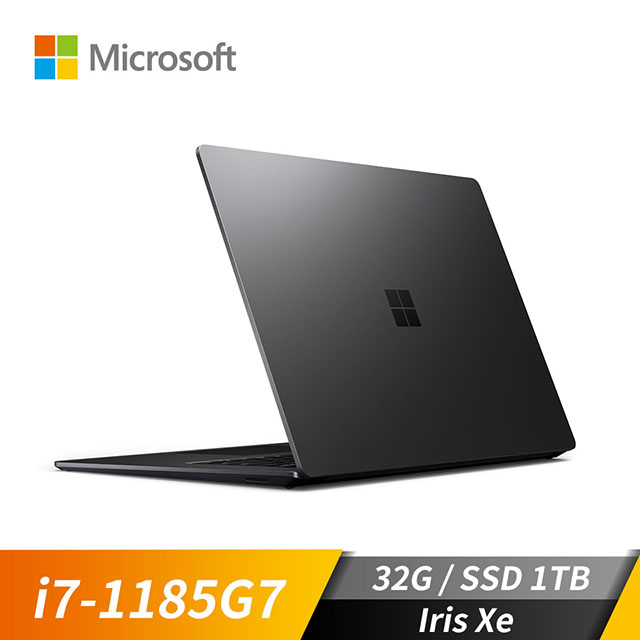 微軟Microsoft Surface Laptop4 霧黑色(i7-1185G7/Iris Xe/32GB/1TB SSD/15吋)