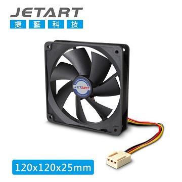 捷藝 JETART 12公分靜音直流風扇 (DF12025P)